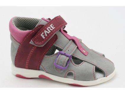 Dětské sandálky Fare AL 560191 (Barva růžová, Velikost 25)