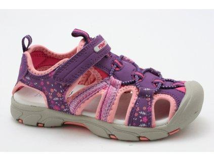 Dětské sandálky Peddy PO5123505 (Barva Fialová, Velikost 35)