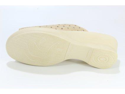 Dámské pantofle Adanex 17693 (Barva béžová, Velikost 40)