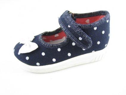 Dětská domácí obuv AD KAJA 08 (Barva Modrá, Velikost 20)