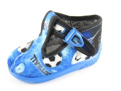 Dětská domácí obuv Ula 122 (Barva Modrá, Velikost 25)