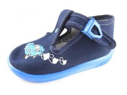 Dětská domácí obuv ULA 32 (Barva Modrá, Velikost 25)