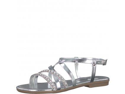 Dámské sandály Marco Tozzi 2-28139/20 (Barva šedá, Velikost 37)