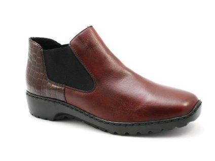 Dámské boty Rieker L6090-35 (Barva červená, Velikost 41)