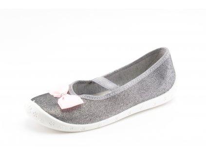 Dětská domácí obuv Sylwia S25 (Barva šedá, Velikost 25)