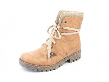 Dámské boty Rieker 785F5-24 (Barva béžová, Velikost 41)