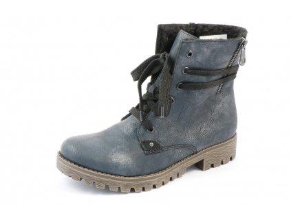 Dámské boty Rieker 785G9-14 (Barva Modrá, Velikost 41)