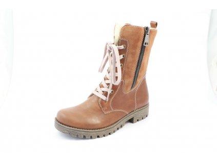Dámské boty Rieker 785K1-25 (Barva hnědá, Velikost 42)