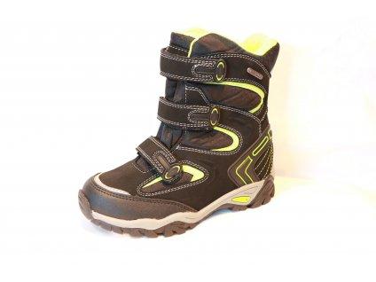 Chlapecké zimní boty PEDDY P12313605 (Barva černá, Velikost 41)