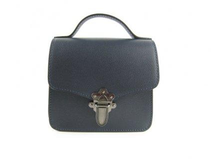 Dámská kožená kabelka F8 k141pell (Barva Modrá)