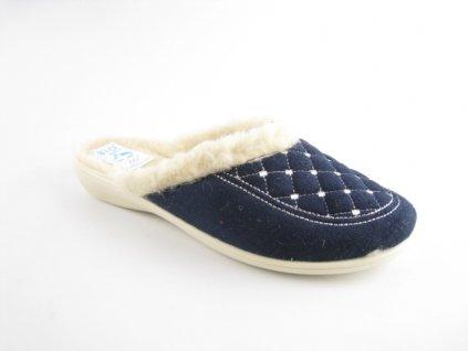 Dámské pantofle Adanex 19380 (Barva Modrá, Velikost 39)