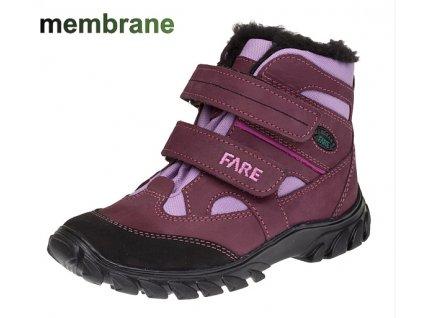 Dívčí zimní boty Fare 2644292 (Barva Fialová, Velikost 36)