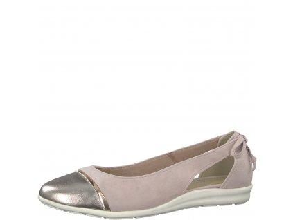 Dámské baleríny Marco Tozzi 2-22130/22 růžové (Barva růžová, Velikost 40)