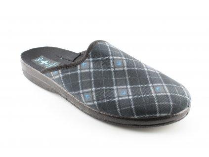 Pánská domácí obuv ADANEX 23968 (Barva šedá, Velikost 44)
