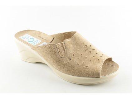 Dámské pantofle ADANEX 22899 (Barva hnědá, Velikost 41)