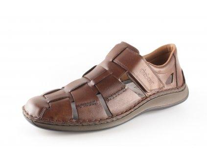Pánské sandály Rieker 05273-25 (Barva hnědá, Velikost 46)