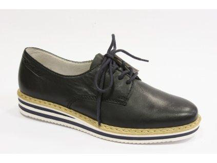 Dámské boty Rieker N0210-14 (Barva Modrá, Velikost 41)
