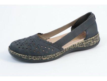Dámské boty Rieker 46397-14 (Barva Modrá, Velikost 36)