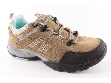 Dámská obuv Power POW638 AKCE (Barva hnědá, Velikost 37)