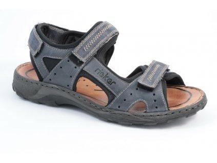 Pánské sandály Rieker 26061-15 (Barva Modrá, Velikost 46)