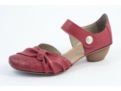 Dámská obuv Rieker 43722-35 (Barva červená, Velikost 40)