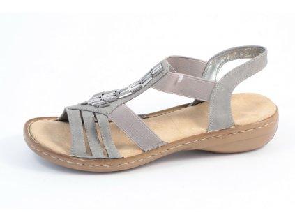 Dámské sandály Rieker 60800-42 (Barva šedá, Velikost 40)