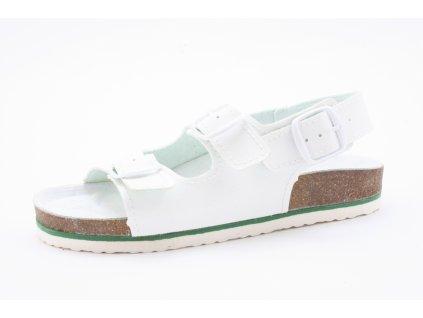 Dámský Fusbet sandál dvoupásek 215001 bílý