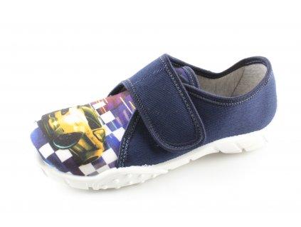 Dětská domácí obuv Tomek T7 (Barva Modrá, Velikost 25)