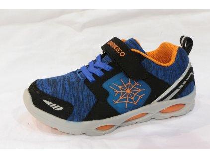 Dětské svítící boty JE91566-23-1 (Barva Modrá, Velikost 24)
