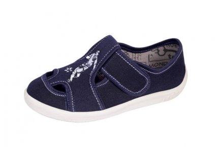 Dětská obuv s koženou stélkou IGOR76 (Barva Modrá, Velikost 29)