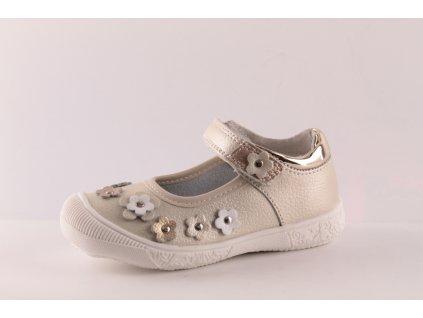 Dívčí boty Peddy AC P26183915 KOŽENÉ (Barva zlatá, Velikost 25)