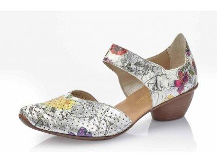 Dámská obuv Rieker 43789-90 (Barva kytička, Velikost 42)