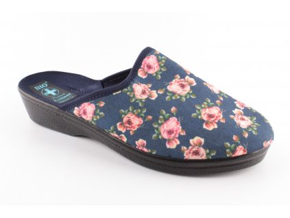 Dámské pantofle ADANEX 23959 (Barva kytička, Velikost 39)