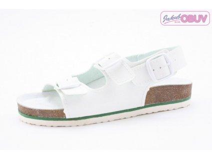 Pánský Fusbet sandál dvoupásek 217001 bílý (Barva Bílá, Velikost 46)