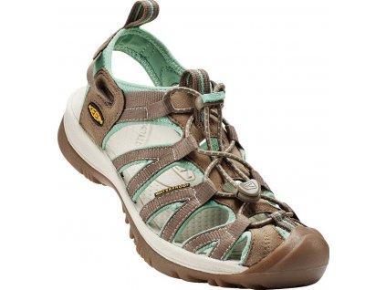 Dámská obuv Keen WHISPER SHITAKE/MALACHITE (Barva hnědá, Velikost 42)