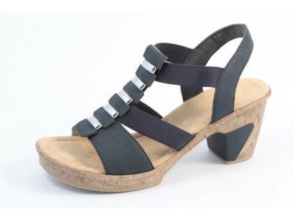 Dámská obuv Rieker 69792-14 (Barva Modrá, Velikost 37)