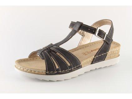 Dámské boty INBLU OF018 černé (Velikost 41)