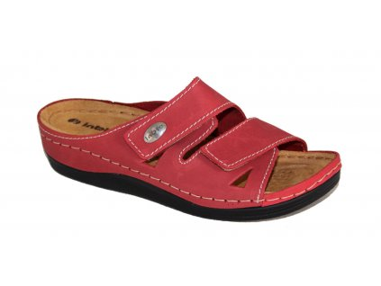 Dámské boty INBLU LF007 červené (Barva červená, Velikost 40)
