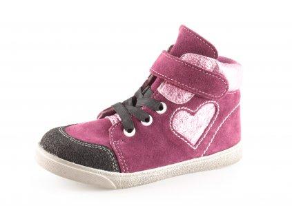 Dětské boty Jonap 050/2 dívčí fialové (Barva Fialová, Velikost 29)