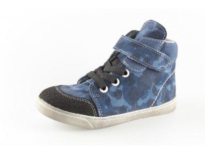 Dětské boty Jonap 050/2 chlapecké modrý maskáč (Barva Modrá, Velikost 30)