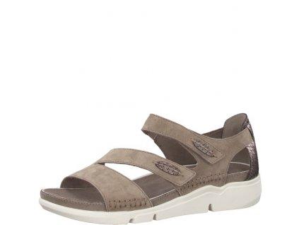 Dámské sandály JANA 8-28600/28 (Barva béžová, Velikost 39)
