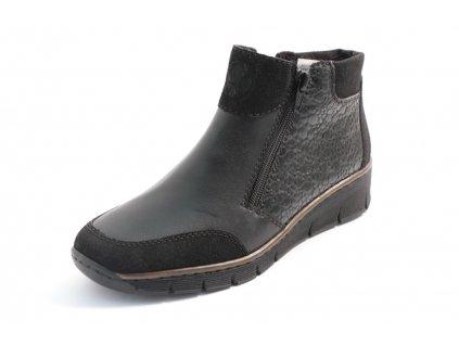 Dámské boty Rieker 53782-00 (Barva černá, Velikost 42)