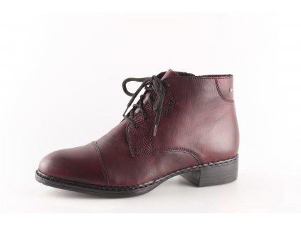 Dámské boty Rieker 73420-35 (Barva červená, Velikost 42)