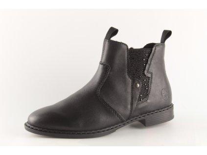Dámské boty Rieker 72460-00 (Barva černá, Velikost 42)