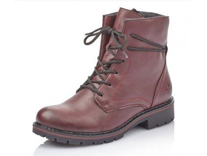 Dámské boty Rieker Y9132-35 (Barva červená, Velikost 42)