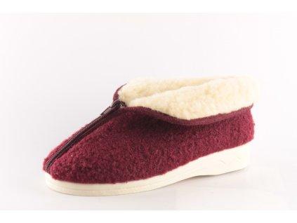 Dámské pantofle Adanex 23566 zateplené (Barva červená, Velikost 41)