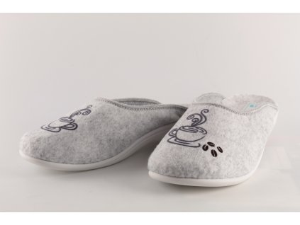 Dámské pantofle Adanex 23338 SKVĚLÝ DOPLNĚK (Barva šedá, Velikost 40)