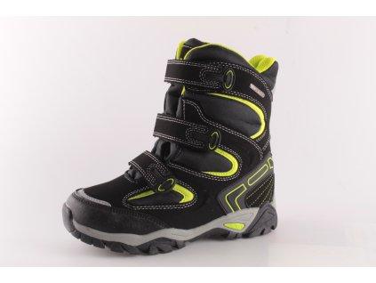 Dětské zimní boty PEDDY AZ P15313605 (Barva černá, Velikost 33)