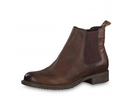 Dámské boty Tamaris 1-25422/23 hnědé (Barva hnědá, Velikost 43)