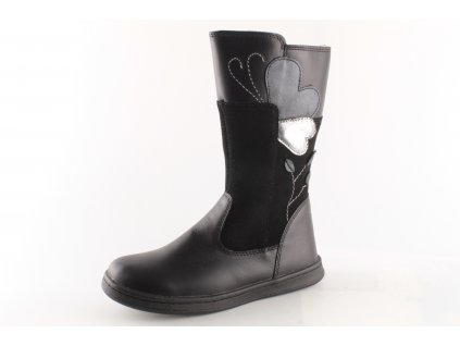 Dětské boty zimní AZ PV219-DA06 kožené (Barva černá, Velikost 33)